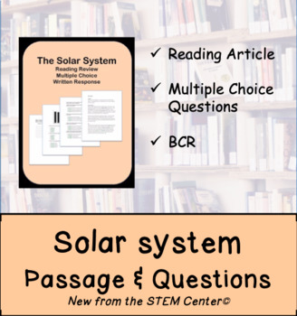 Solar System Reading Passages and Questions