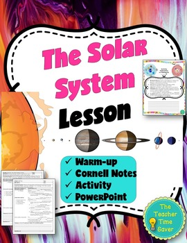 Solar System Lesson (PowerPoint, notes, and activity)