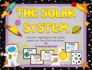 The Solar System - Planet Facts and Moon Phases (Posters)