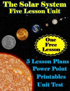 The Solar System Unit Bundle - 5 Lessons, Powerpoint, Prin