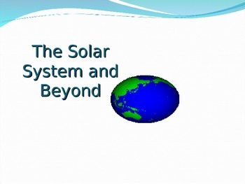 The Solar System and Beyond