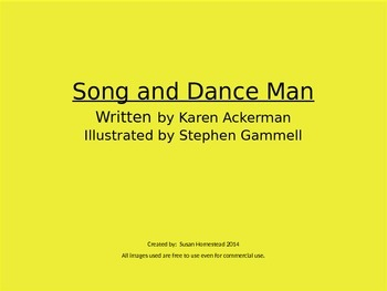 The Song And Dance Man ~ Vocabulary, Comprehension, Simile