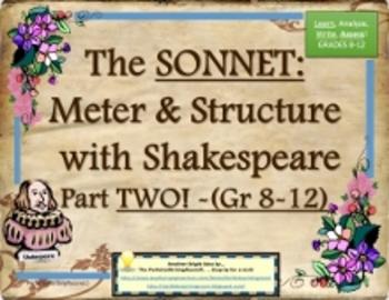 The Sonnet 2 -Meter & Structure, a Complete Common Core Un