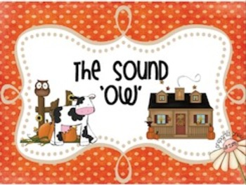 The Sound 'OW' (ow, ou sorting/spelling) Literacy Center; Workbox