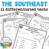 The Southeast: 11 Differentiated Tests - States, Capitals,