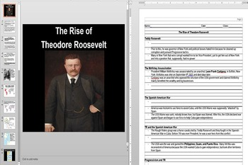 The Spanish American War and Teddy Roosevelt Powerpoint AN
