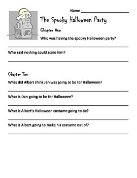 The Spooky Halloween Party Reading Guide
