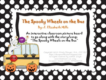 The Spooky Wheels on the Bus - Interactive Picture Board