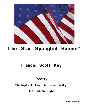 The Star Spangled Banner  by FS Key  Autism Adapted Poetry
