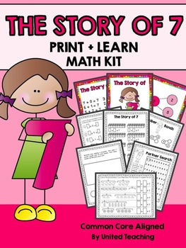 The Story of 7 Print + Learn Math Kit