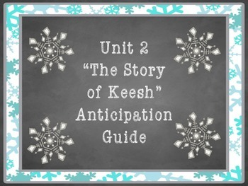 The Story of Keesh by Jack London Anticipation Guide