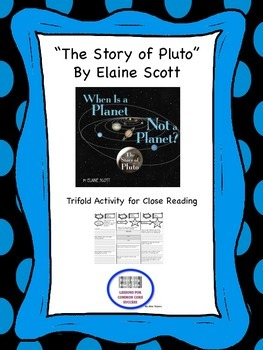 """""""The Story of Pluto"""" Trifold Activity McGraw Hill Reading"""