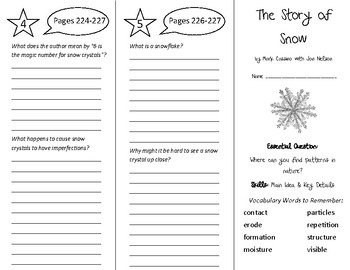 The Story of Snow Trifold - Wonders 5th Grade Unit 3 Week 3