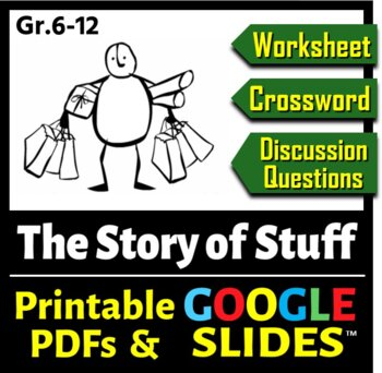 The Story of Stuff - Worksheet, Crossword and Discussion Q