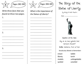 The Story of the Statue of Liberty Trifold - Reading St 3r