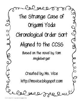 The Strange Case of Origami Yoda Chronological Order