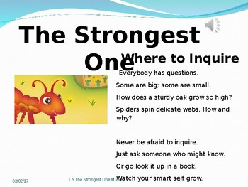2.1.5 The Strongest One Reading Street 2nd Grade Unit 1 We