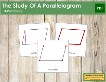 The Study of a Parallelogram 3-Part Cards