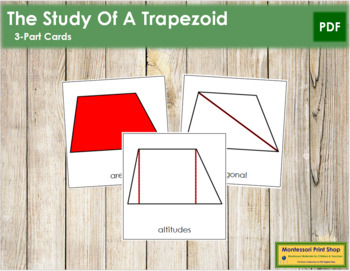 The Study of a Trapezoid 3-Part Cards