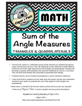 The Sum of the Angle Measures: Triangles & Quadrilaterals