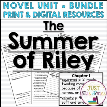 The Summer of Riley Novel Unit