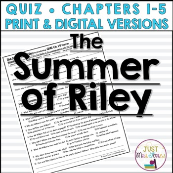 The Summer of Riley Quiz 1 (Ch. 1-5)