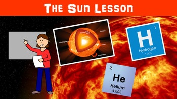 The Sun No Prep Lesson with Power Point, Worksheet, and Vo
