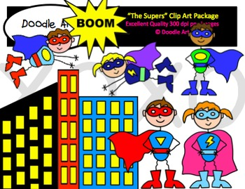 Superhero Clipart Pack