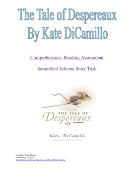 The Tale of Despereaux: Comprehension Reading Strategy-- S