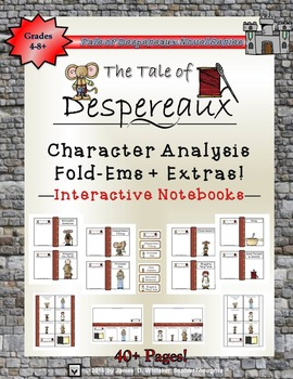The Tale of Despereaux Mini Character Analysis Fold-Ems &