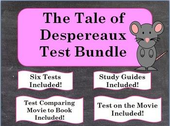 The Tale of Despereaux Test Bundle ~ Five Tests Included