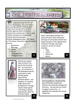 The Taming Of The Shrew Retold with Activities and Illustrations
