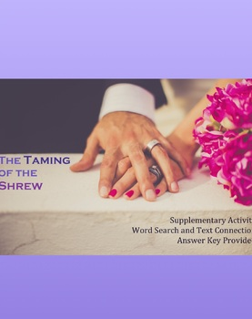 The Taming of the Shew Word Search and Key Term Identifica