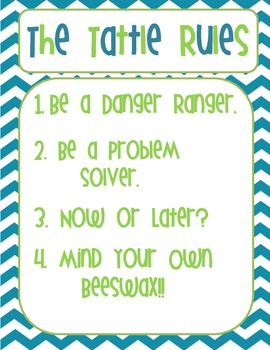 The Tattle Rules Poster