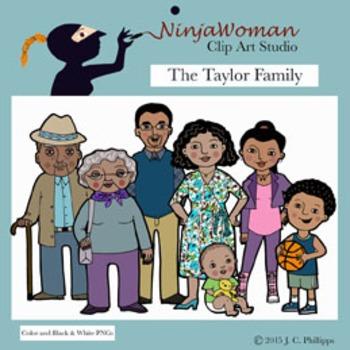 The Taylor Family Clip Art