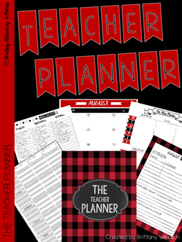 The Teacher Planner: Flannel Style 2016-2017
