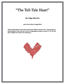 """The Tell-Tale Heart""  Lesson Closures"