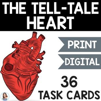 """The Tell-Tale Heart"" by Edgar Allan Poe Task Cards"