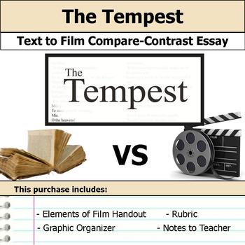 The Tempest by William Shakespeare - Text to Film Essay Bundle