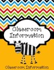 Teacher Organization Binder - Safari Theme - Editable - Fr