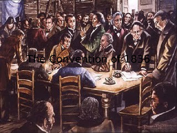 The Texas convention of 1836