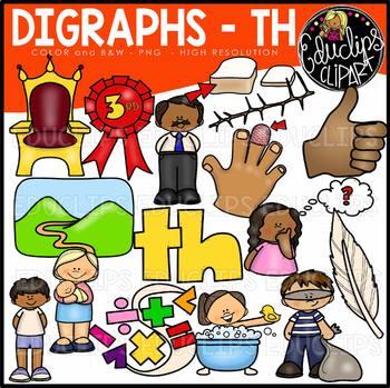 Digraph~TH Clip Art Bundle {Educlips Clipart}
