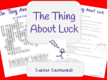 """""""The Thing About Luck"""" by Cynthia Kadohata Worksheet - Crossword"""