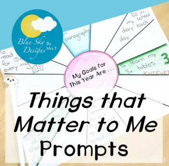 The Things That Matter Most To Me Are . . .
