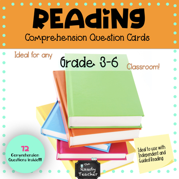 72 Reading Task Cards - Higher Level Thinking