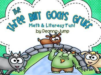 The Three Billy Goats Gruff Math & Literacy Fun!  Common C