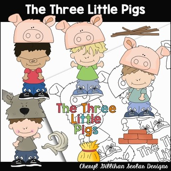 The Three Little Pigs Clipart Collection
