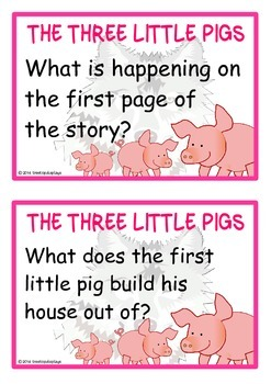 The Three Little Pigs Reading Prompts