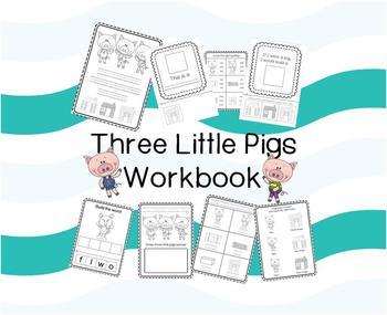 Three Little Pigs Workbook (Literacy and Maths)