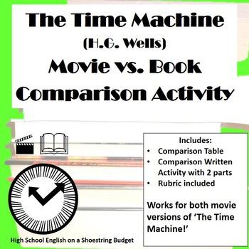 The Time Machine Movie vs Book Comparison Activity (H.G. Wells)